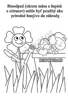 Hračky - Omaľovánky - listy na vytlačenie na tému OCHRANA ŽIVOTNÉHO PROSTREDIA (Hladná kvetina) - 9547672_