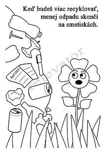 Hračky - Omaľovánky - listy na vytlačenie na tému OCHRANA ŽIVOTNÉHO PROSTREDIA (Smetisko) - 9547676_