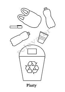 Hračky - Omaľovánky - listy na vytlačenie na tému OCHRANA ŽIVOTNÉHO PROSTREDIA (Plasty) - 9547696_