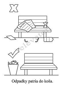 Hračky - Omaľovánky - listy na vytlačenie na tému OCHRANA ŽIVOTNÉHO PROSTREDIA (Lavičky) - 9547705_