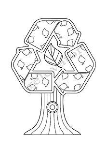 Hračky - Omaľovánky - listy na vytlačenie na tému OCHRANA ŽIVOTNÉHO PROSTREDIA (Strom recyklácie) - 9547707_