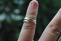 Prstene - Obrúčky klasik spletené - 9551012_