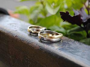 Prstene - Obrúčky klasik spletené - 9551007_