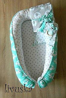 Textil - Hniezdo pre bábätko mint slonik © - 9550368_