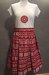 Sukne - Sukňa čičmanský vzor červená - 9549707_
