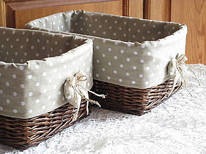 Košíky - Košíky - Ebenové v béžovej košieľke - 9550571_
