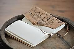 - kožený cestovateľský denník CARVEL - 9549808_