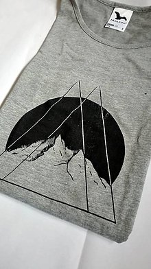 Tričká - Hory v nás - sivé tričko - 9549604_