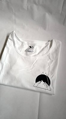 Tričká - Hory v nás - biele minimalistické tričko - 9549911_