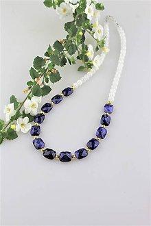 Náhrdelníky - zafír náhrdelník v striebre luxusný - 9550477_