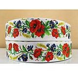 Galantéria - Rypsová stuha 25 mm- lúčne kvety - 9549973_