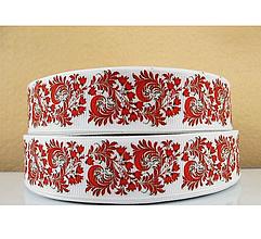 Galantéria - Stuha rypsová- ornamenty- š.25 mm - 9550918_