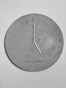 Hodiny - Betónové hodiny 40 (Clear) - 9549725_