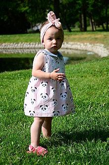 Detské oblečenie - pandove šatičky - 9550372_