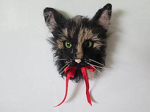 Magnetky - Magnetka mačka podľa fotografie - 9551935_