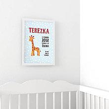 Detské doplnky - Personalizovaný obrázok - Žirafka - 9552002_