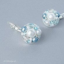 Náušnice - Náušničky ♥ WHITE & BLUE WEDDING ♥ - 9550215_