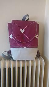 Detské tašky - Detský batoh srdiečkový (backpack) - 9550127_