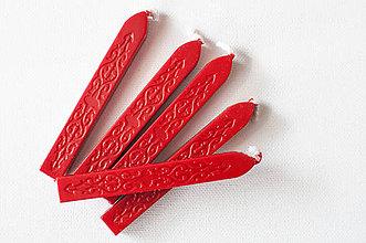 Suroviny - Pečatný vosk s knôtom / 25 odtieňov (Červená) - 9550952_