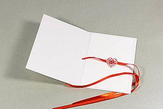 Papiernictvo - Prekvapenie z lásky I - vyšívaný pozdrav - 9550324_