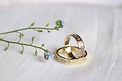 Prstene - obrúčky s folklórnym ornamentom - Bratislava (kombinácia dvoch farieb) - 9551397_
