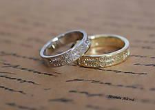 Prstene - obrúčky s folklórnym ornamentom - Bratislava (kombinácia dvoch farieb) - 9551401_