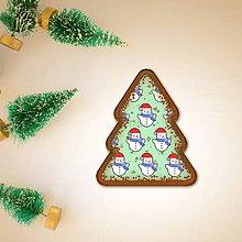 Grafika - Vianočné grafické perníky so vzorom - vianočné stromčeky - 9550392_