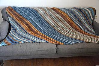 5644971665 Úžitkový textil - Farebná vlnená prikrývka (pre neho) - 9554747