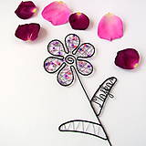Dekorácie - farebný kvet s menom - 9552642_
