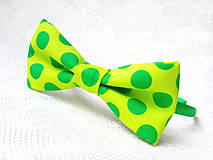 Ozdoby do vlasov - Pin Up headband (neon green/green polka dots) - 9552835_