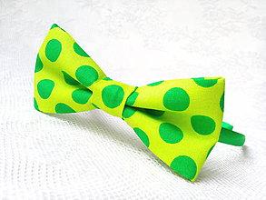 Ozdoby do vlasov - Pin Up headband (neon green/green polka dots) - 9552835_
