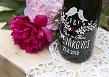 - Vyrezávané svadobné etikety Hrdličky - 9553201_
