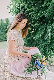 Topy - Romantický pletený top - 9553086_