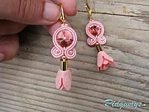 Mini tassels...soutache (Baby pink/Rose peach)