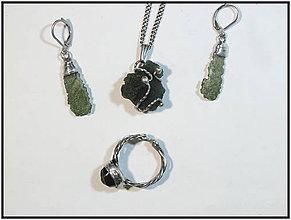 Sady šperkov - Vltavínkové potěšení - 9554641_