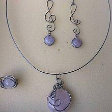 Sady šperkov - sada oceľových šperkov s ruženínom 3 - 9552410_