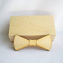 Polotovary - M -Drevená krabička a motýlik - 9553134_
