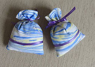 Úžitkový textil - levanduľové vrecúško - maľované - 9553043_