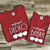 Tričká - Najlepšia Babka a Dedko - tričká pre starých rodičov (Set 2 tričiek pre babku a dedka) - 9554395_