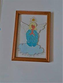 Obrázky - Anjelik maľovaný na skle - 9553340_