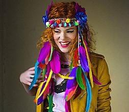 Ozdoby do vlasov - Kráľovská čelenka Festival Nomad - 9553994_