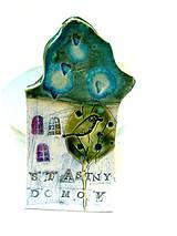 Dekorácie - tabuľka na dom  s nápisom šťastný domov - 9553142_