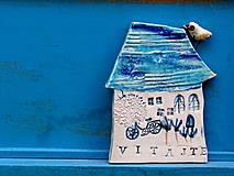 Dekorácie - tabuľka na dom  s nápisom vitajte - 9553609_