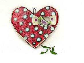 Dekorácie - srdce s vtáčikom - 9553680_
