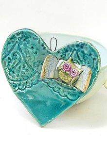 Dekorácie - srdce sova v okienku - 9553711_