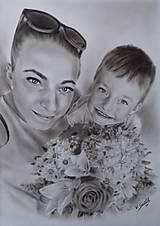 Kresby - Ukážka kresby A3 čiernobiela - 9553744_