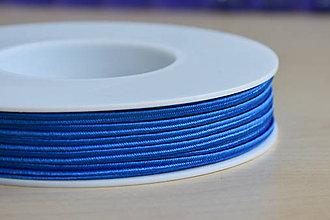 Galantéria - Šujtášová šnúrka azurová 3mm, 0.25€/ks - 9552991_