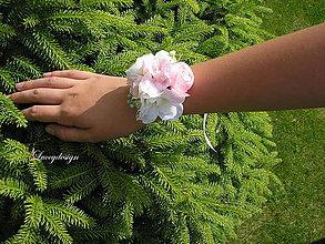 Náramky - svadobný náramok..nežný ružový - 9552620_