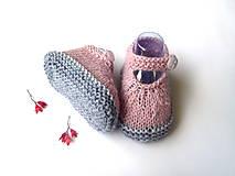 Topánočky - Sandálky pre bábätko z alpaky - 9555730_