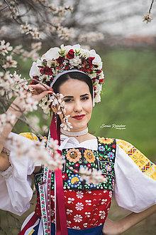 Ozdoby do vlasov - Ľudová kvetinová parta - 9557194_